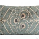"HAND LOOMED ""RIDGEWOOD""  SILK VELVET PILLOW"