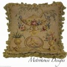 CHERUB TOILE HIGH QUALITY AUBUSSON PILLOW