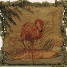 Pink Flamingo Aubusson Pillow