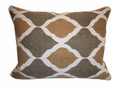 Custom made Celedon & mustard designer pillow