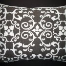 Chocolate Brown Garden Gate Pillow