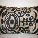 Silk Velvet Ikat Pillow ~ Medius