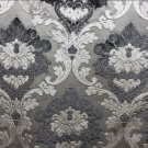 PARISIAN VELVET GRAPHITE,SMOKE,SILVER AND GREY DAMASK ~ NEW!