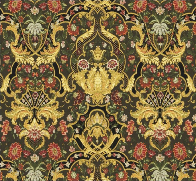 Sale:HIGH END AUBUSSON TAPESTRY LAMPAS FABRIC IMPORTED FROM ITALY