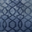 OUTSTANDING GEOMETRIC HIGH END VELVET TEXTILE IN COLOR: LAPIS