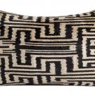 "HAND LOOMED ""TRIBAL IKAT""  SILK VELVET PILLOW"