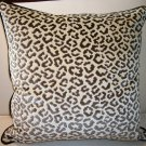 Pair Of High End Lee Jofa Velvet Leopard Pillows