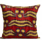 Bhangra Ikat Silk Pile Accent Pillows - A Pair