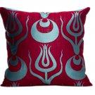 Silk Atlas Ottoman Ikat Pillow
