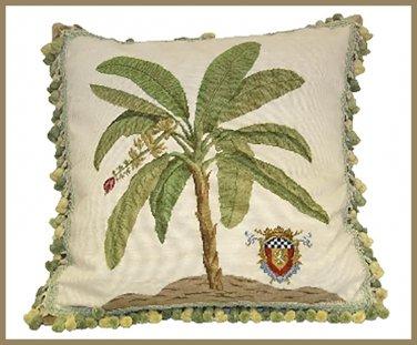 High End Banana Needlepoint Pillow