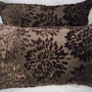 Pair Of Koplavitch & Zimmer Burnt Out Velvet Pillows