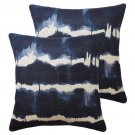 Indigo Custom Designer Down Feather Pillows - A Pair