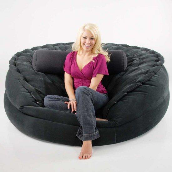 Sumo Sac 4 In 1 Ultimate Inflatable Jumbo Air Bed Beanless Bean Bag Chair Amp More