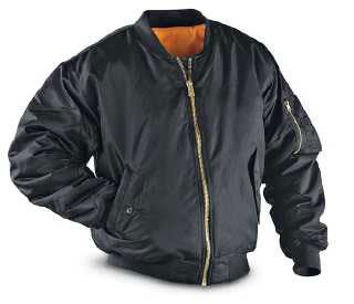 BEST NEW MA1 Flight Bomber Jacket NYLON!WATERPRO Black