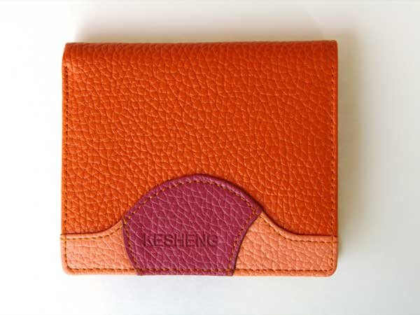 Orange Innovative Wallet Clutch with Demagnetization-proof Design