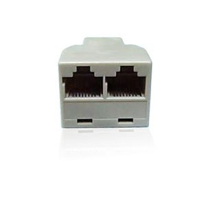 Lot of 8 Network RJ45 8P8C LAN 1 to 2 Y Adaptor/Divider/Splitter