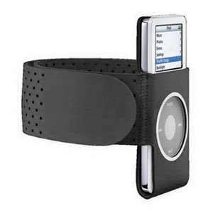 Black GYM Sport Armband Wrist Strap for iPod Nano, 2nd