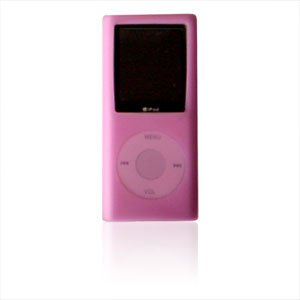 "Light red Silicone Skin Cover for 1.8"" Nano Clone MP4 Player"