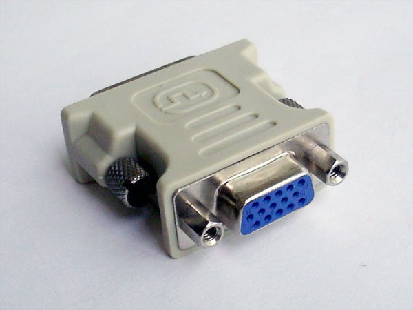 Lots 3 DVI-I to VGA Converter Adapter For HDTV LCD DVD