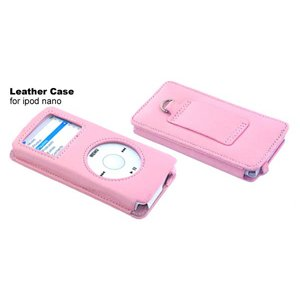Lots X2 iPod Nano 2nd GEN Leather Case PINK + Belt Clip