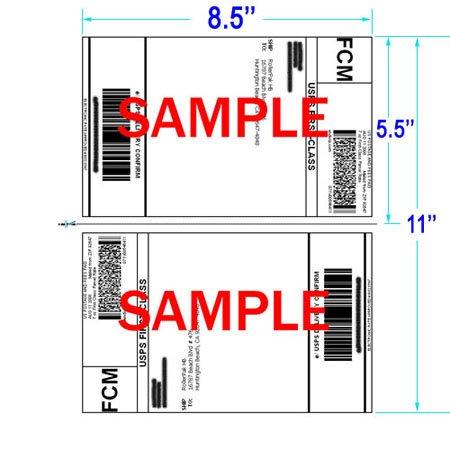 400 Half Sheet Laser Inkjet SELF ADHESIVE Shipping Labels