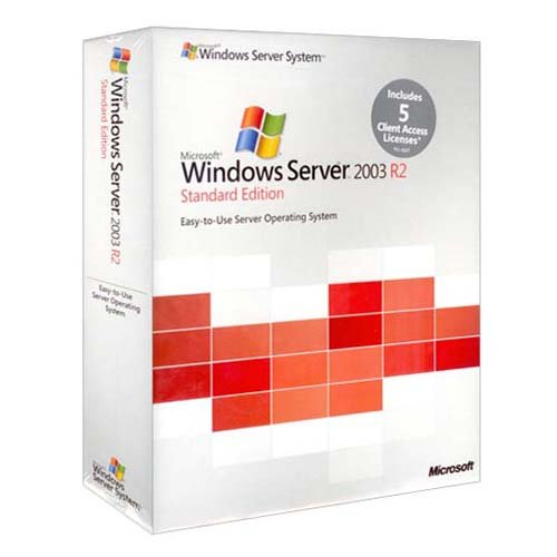 Microsoft Windows Server 2003 R2 Standard Edition w/SP2 - 5 CAL (1-4 CPU)