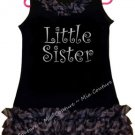 Sparkly Little Sister Zebra Chiffon Ruffled Dress