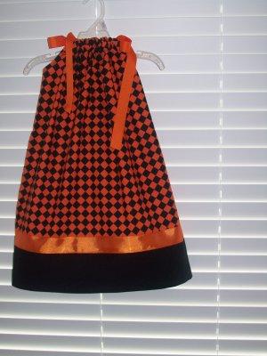 Orange/Black Pillowcase Dress