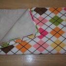 Argyle Handmade Snuggle Flannel Baby Toddler Blanket