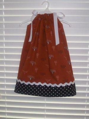 University of Texas Pillowcase Dress Matching Bow