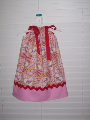 Adorable Valentine Hearts Pillowcase Dress, 24 Months