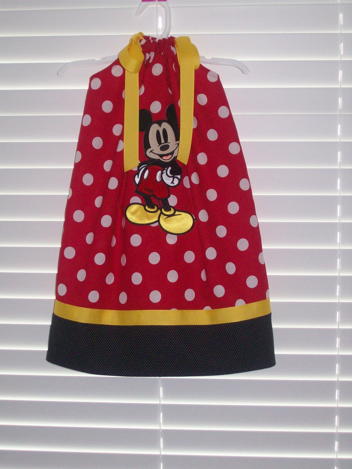 Red Mickey Mouse Pillowcase Dress