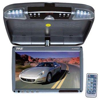 "Pyle PLRD92 9"" Flip Down Monitor & DVD player with Wireless FM Modulator/ IR Transmitter"