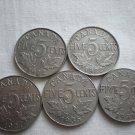 Canada 5 Cents, 1922, 1922, 1927, 1931, 1935