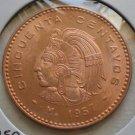 Mexico, 50 Centavos, 1957, BU