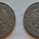 Germany, 1Mark, 1955 F, 1957 F, KM-110