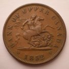 Bank of Upper Canada, 1 Penny Token, 1852