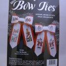 Cross Stitch ornaments kit from JCA, Inc. (Made in USA) -  Mini Bow Ties - Ho Ho Santa