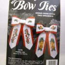 Cross Stitch ornaments kit from JCA, Inc. (Made in USA) -  Mini Bow Ties - Holiday Joy
