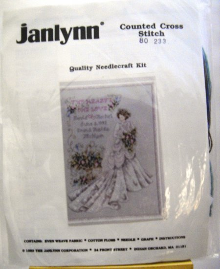 Counted Cross Stitch kit from Janlynn (1993) - Two Hearts One Love