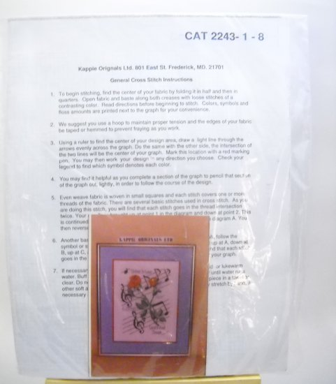 Counted Cross Stitch kit from Kappie Originals Ltd. - United In Love