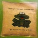 Counted Cross Stitch kit from Heritage Series - Princely frog