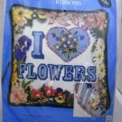 Needlepoint and Ribbons kit from Candamar Designs Inc.  - I Love Flowers