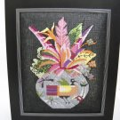 Completed Framed (Without Glass) Needlepoint Picture - Floral arrangement