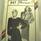Pattern 347 from Stretch & Sew (1984) - jewel neck and ruffled blouse