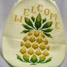Completed Cross Stitch Picture - Pineapple Hospitality