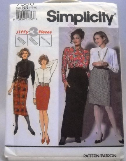 Pattern 7560 from Simplicity (1991) Size NN (10-16) - Misses' Skirts pattern