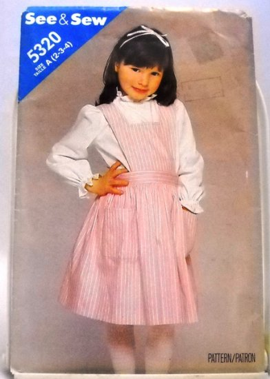 Pattern 5320 from See & Sew Size A (2,3,4) - Children's Jumper pattern