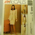 Pattern 2025 from McCalls (1999) Size F (16,18,20) - Misses&#39; four-piece pattern