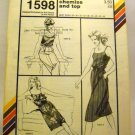 Pattern 1598 from Stretch & Sew(1982) - camisole chemise and top